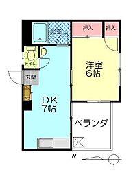 中島第2ビル[206号室]の間取り