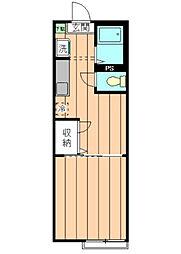 東京都台東区根岸3丁目の賃貸アパートの間取り