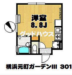 横浜元町ガーデンIII[3階]の間取り