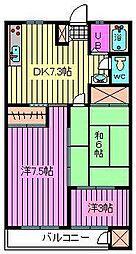 松栄大宮マンション[306号室]の間取り