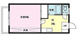 K1マンション[103号室]の間取り