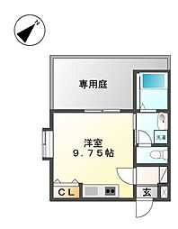 COZY APARTMENT YADA[1階]の間取り