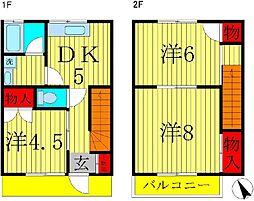 [テラスハウス] 千葉県柏市酒井根2丁目 の賃貸【/】の間取り