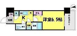 レジュールアッシュ京橋CROSSII[3階]の間取り