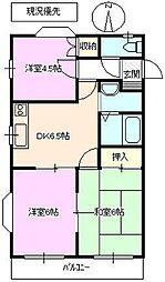 コーポホワイトベル[2階]の間取り