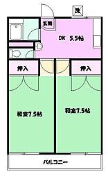 旭ハイム1[2階]の間取り