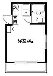 サニーハイム所沢[203号室号室]の間取り
