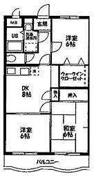 ウイングヤマハル[402号室]の間取り