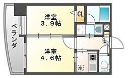 アクタス天神セントラルタワー[11階]の間取り