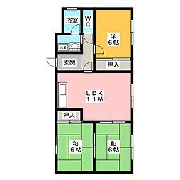 愛知県名古屋市瑞穂区密柑山町1丁目の賃貸マンションの間取り