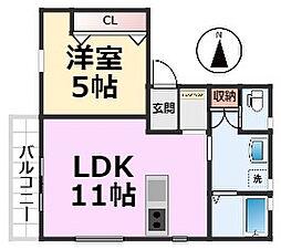 HOUSE Amagasaki 潮江[3階部分号室]の間取り