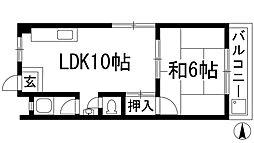 大阪府箕面市桜井2丁目の賃貸マンションの間取り