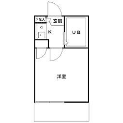 カミーノ豪徳寺[103号室]の間取り