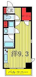 JR東北本線 尾久駅 徒歩4分の賃貸マンション 3階ワンルームの間取り
