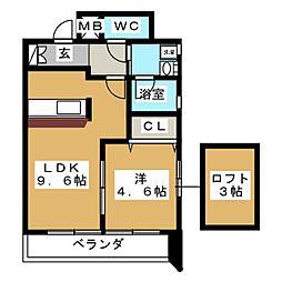 プロビデンス筒井[6階]の間取り