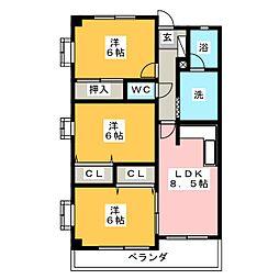 ゴールド高澤[3階]の間取り