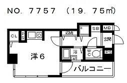 リーガル上本町[2階]の間取り