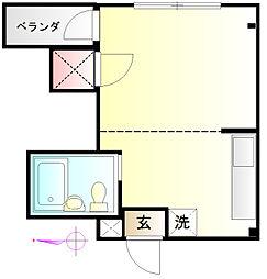 サチコーポ[105号室]の間取り