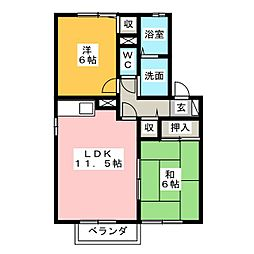 グランタイル高岡B棟[2階]の間取り
