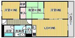 パークサイドマンション[206号室]の間取り