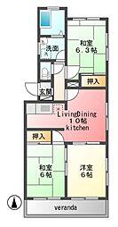 浜野マンション[3階]の間取り