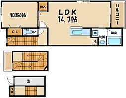 シンフォニア・マキ 3階1LDKの間取り