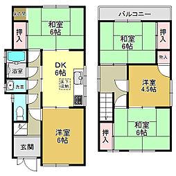 [一戸建] 奈良県大和高田市大字市場 の賃貸【/】の間取り