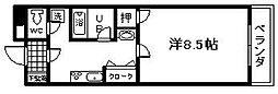 シャルム阪上[1階]の間取り