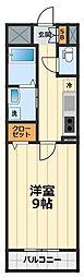 神奈川県大和市福田2丁目の賃貸マンションの間取り