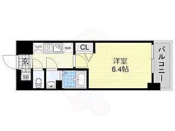 近鉄南大阪線 河堀口駅 徒歩3分の賃貸マンション 10階1Kの間取り
