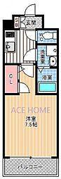 エスプレイス新大阪サウスゲート[1402号室号室]の間取り