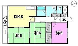オーキッドテラス志津川[501 号室号室]の間取り