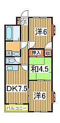 谷川第二マンション[308号室]の間取り