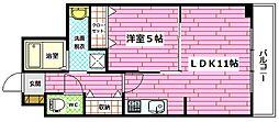 広島県広島市安佐南区西原9丁目の賃貸マンションの間取り
