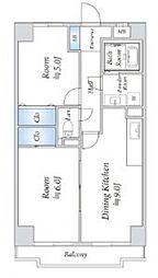 インシュランスビル2[403号室号室]の間取り