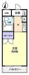 リエス習志野台[1階]の間取り