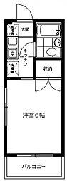アドレ生田[203号室号室]の間取り