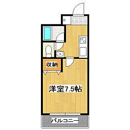 K'sクラブハウス[2階]の間取り