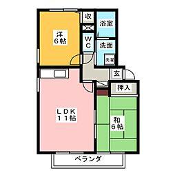 ボナール21C[2階]の間取り