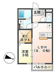 シャルマン 高茶屋[2階]の間取り