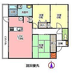 WISTERIAマンションII[1階]の間取り