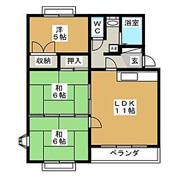 川崎マンション[2階]の間取り