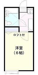 千葉県浦安市東野3丁目の賃貸アパートの間取り