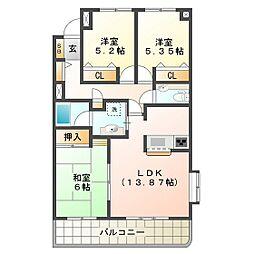 サンマンションアトレ青山[202号室]の間取り