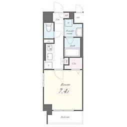 名古屋市営東山線 今池駅 徒歩7分の賃貸マンション 2階1Kの間取り