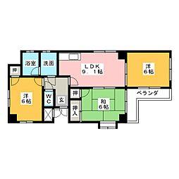 エムズフォレスタII[3階]の間取り