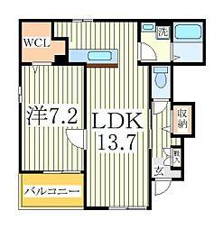 アコーレ 1階1LDKの間取り