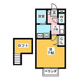 セジュールつるみ[2階]の間取り