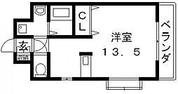 ロータリーマンション長田東[701号室号室]の間取り