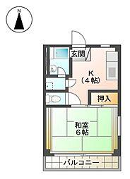 福住ビル[3階]の間取り